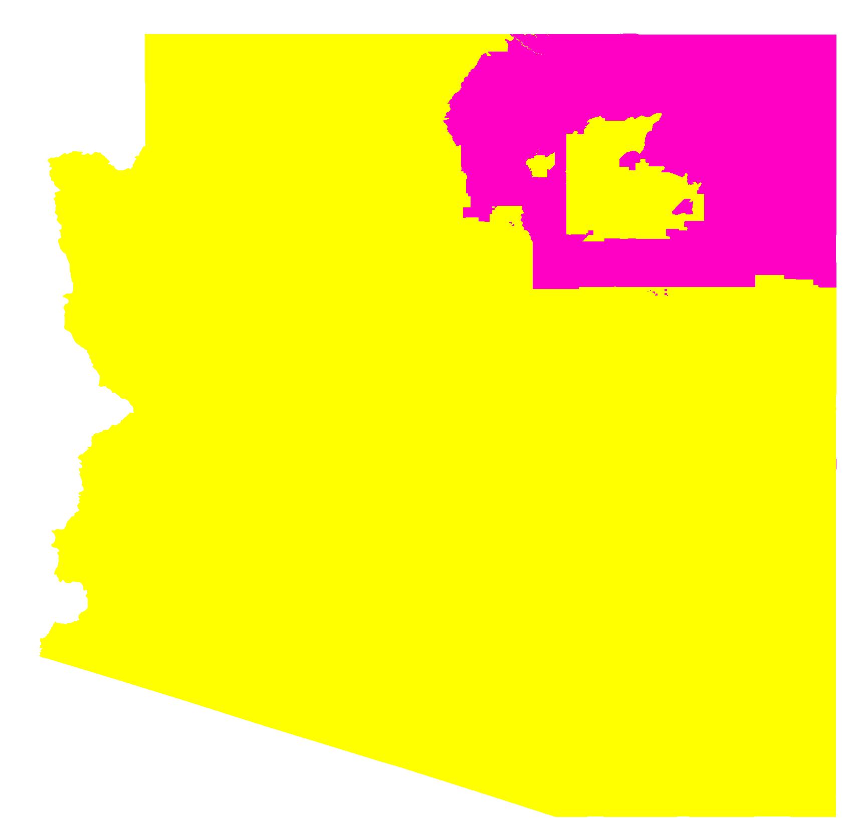 Arizona Time Zone Map