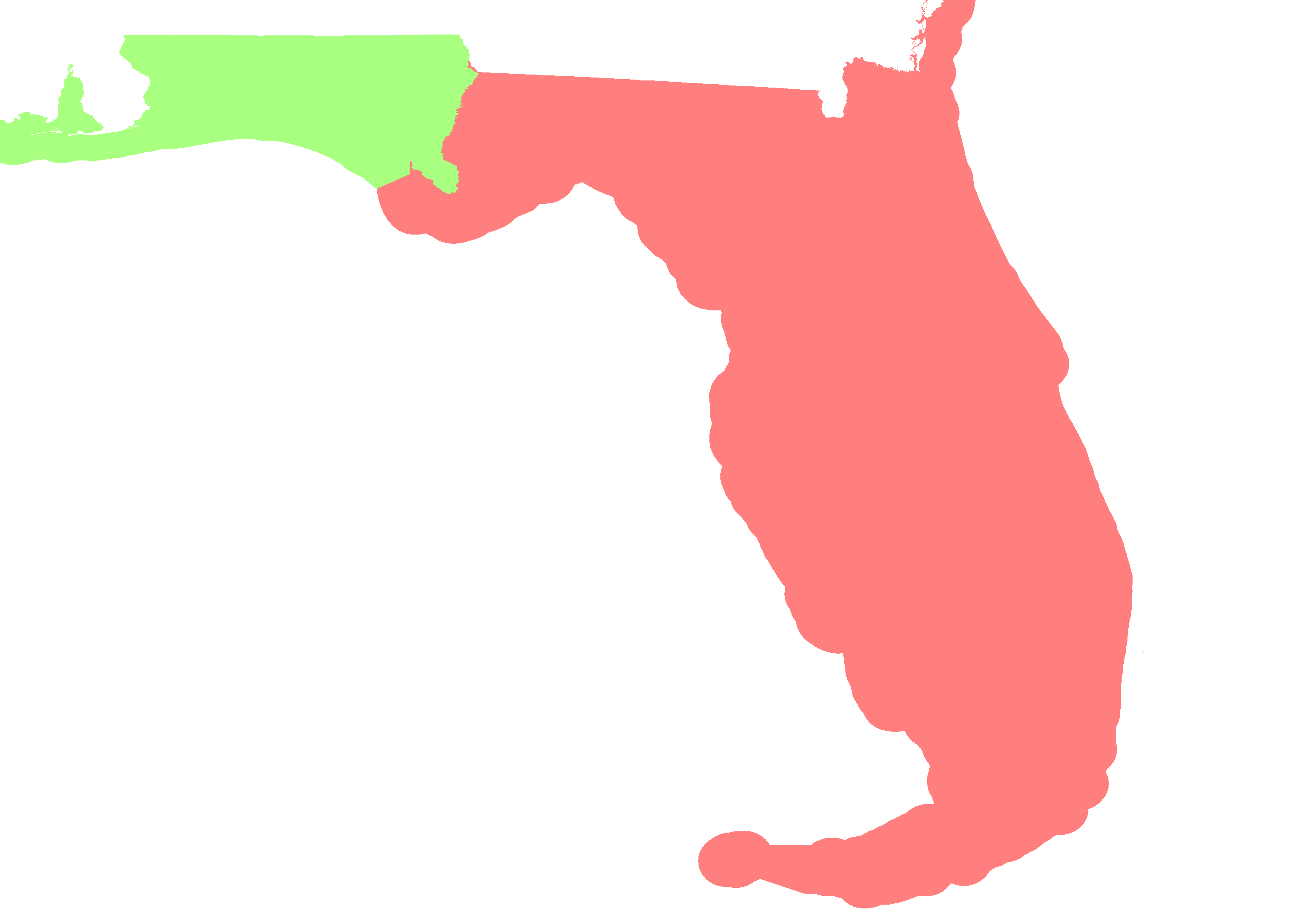 Florida Time Zone Map.Florida Time Zone Map